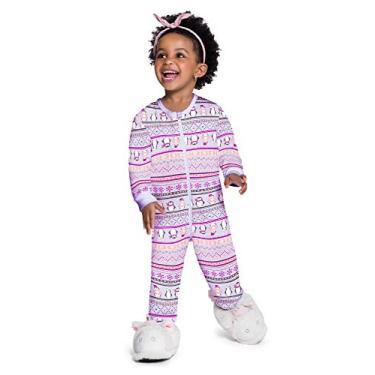 Macacao Moletom infantil flandelado Brandili meninas 1 a 3 anos Cor:lilas;Tamanho:3 anos