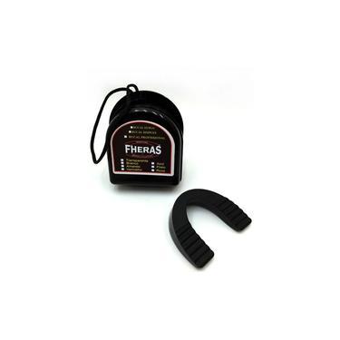 Kit Boxe Muay Thai Trad-Luva Bandagem Bucal Caneleira Bolsa 14 oz- Preto