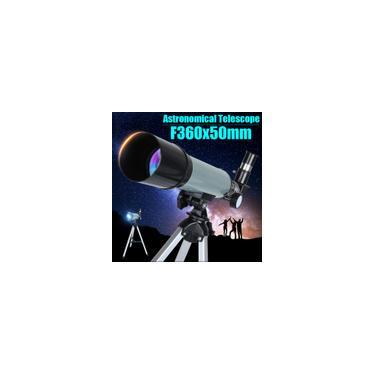 360x50mm Telescópio Astronômico ao Ar Livre Espaço Monocular Vidro Óptico c / Alumínio