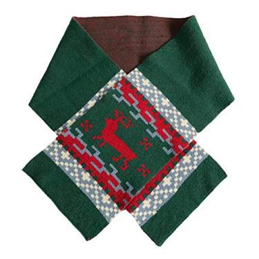 SOIMISS Xmas Alce Xmas Lenço de Lã Tricotado Lenço Alargado Lenço Alongado Xale Lenço de Cabeça