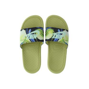 0e043d6a6 Chinelo Nike Benassi JDI Print - Slide - Feminino - AMARELO ESC/AZUL Nike