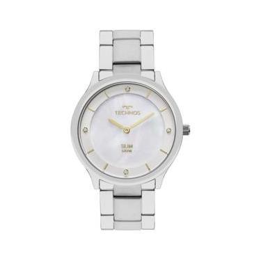 d358d077c78 Relógio Feminino Technos Ladies GL20HG 1B Pulseira Aço Prata