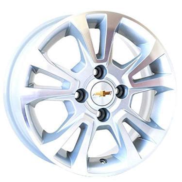Imagem de Jogo de Rodas Chevrolet Prisma Aro 14 x 6,0 4x100 ET39 R42 Prata Diamantado