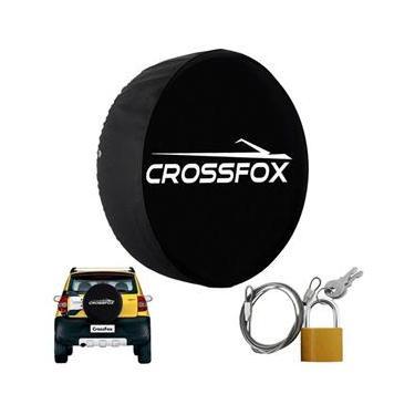 Capa Pneu Roda Estepe Crossfox Universal Cadeado Anti Furto Aro 14 à 17 Carrhel 488 Basic