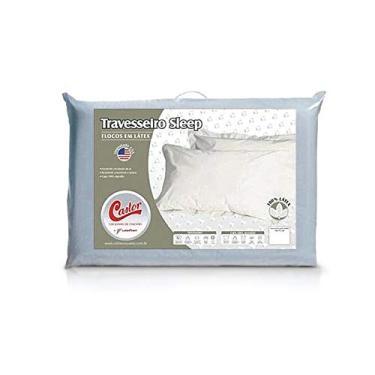 Imagem de Travesseiro Castor Látex Flocos 100% Algodão 0,50x0,70x0,15cm