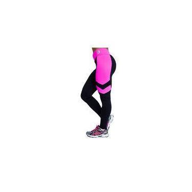 Calça Legging Fitness Levanta Bumbum Suplex Feminina Rosa G