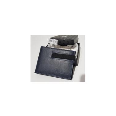 Carteira fasolo couro azul marinho K337076602