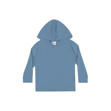 Camiseta Em meia malha penteada, Elian, Meninos, Azul, MB
