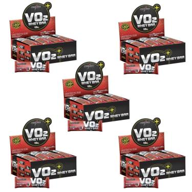 Kit 5X VO2 PROTEIN BAR - 24 Unidades 30g Frutas Vermelhas c/ Iorgute - IntegralMédica
