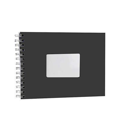 Álbum de fotos Scrapbook Preto 40 Páginas - 15x21