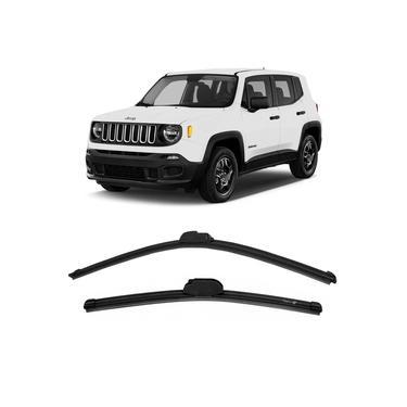 Par Palheta Limpador Parabrisa Jeep Renegade 2015 a 2016 Dianteira Dyna