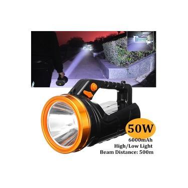 50W LED Holofote Holofotes Handheld Lanterna Recarregável Tocha Lâmpada Outdoor Hiking Camping