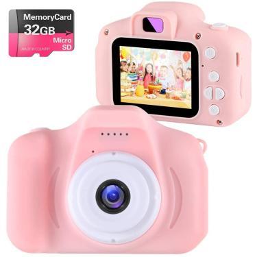 Imagem de Crianças Brinquedos Crianças Câmera Digital para Meninas de 3 a 9 anos, NINE CUBE Kids Action Camera,Toddler Video Recorder 2 Inch 1080P Aniversário Presentes para 3 4 5 6 7 crianças de 9 anos (32g SD Card Include)