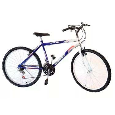 Bicicleta Aro 26 Wendy Masc 18M Mtb Convencional Cor Azul