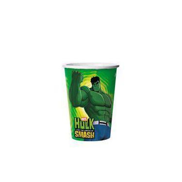 Copo Descartavel Hulk 08 Unidades Regina Festas