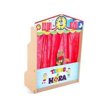 Teatro De Fantoches Da Hora Infantil Em Mdf - Carlu