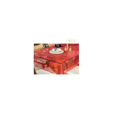 Imagem de Toalha De Mesa Quadrada Renda Vermelha 1,60x1,60M 06 Lugares