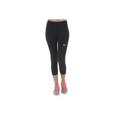 Calça Capri Nike Fly Victory Crop - Feminina - PRETO BRANCO Nike afe1ba4a2bf0e