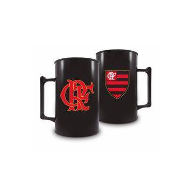 Caneca Acrílica 400Ml - Flamengo Preta ac1c4b35b071f