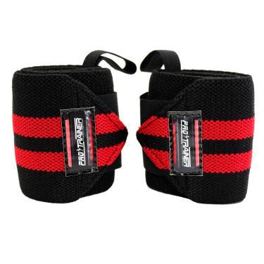 Imagem de Munhequeira Profissional Crossfit  preto com vermelho