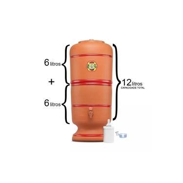Filtro De Barro São Pedro 6 Litros com Boia e Vela Tripla Ação