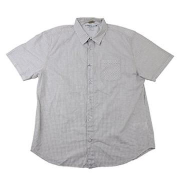 Camisa masculina de manga curta Cypress Club (GG, bronze/branca)