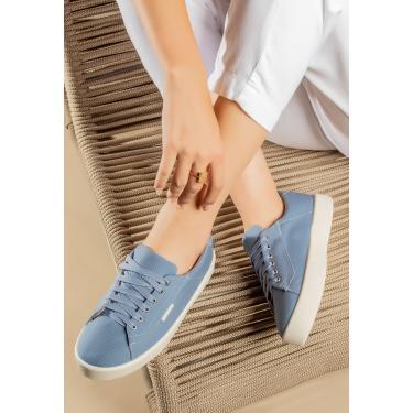Imagem de Tênis Lançamento Feminino Casual Moda Blogueira Zoccolette Sapatenis Azul azul feminino