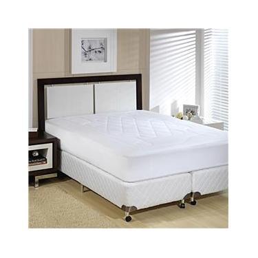 Imagem de Protetor para Colchão Colchão King Size Plumasul Impermeável em Poliéster Matelassê com Soft Touch - Branco