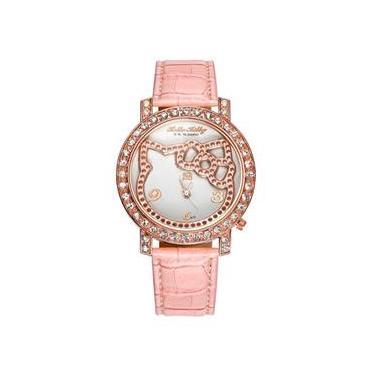 3dc759c8d7a Relógio Feminino Infantil Adulto Elegante Hello Kitty - Pink