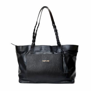 Bolsa feminina de couro legítimo tamanho grande 8118