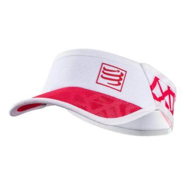 Viseira Compressport Ultralight SPIDERWEB - Branco / Vermelho