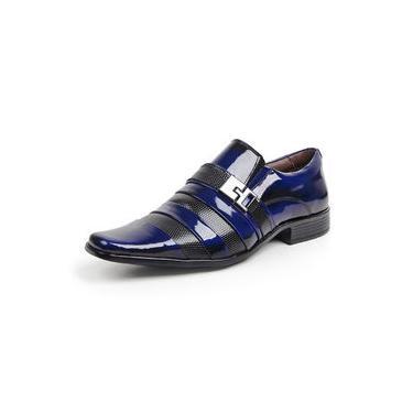 Sapato Social Verniz Dark Blue/Colmeia Exclussivo 0232