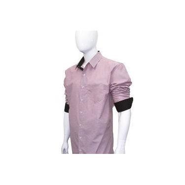 Camisa Social Masculina Manga Longa Plus Size Extra Grande Salmão Bom Pano 855a7f6b64ec7