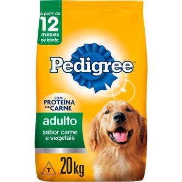 Ração Seca Pedigree Carne e Vegetais para Cães Adultos Raças Médias e Grandes - 20 Kg