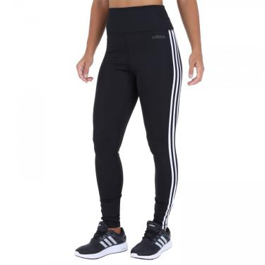 Calça Legging adidas D2M HR 3S - Feminina adidas Feminino