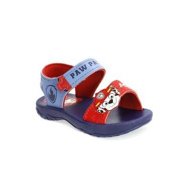 Sandália Infantil Menino Patrulha Canina Azul e Vermelho