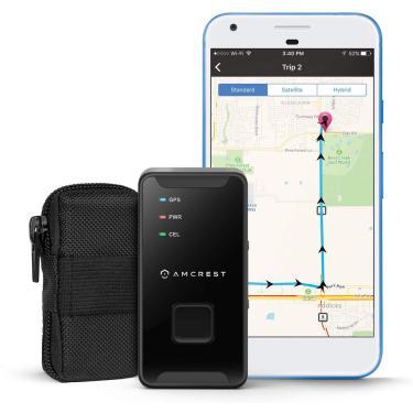 Imagem de Amcrest GPS GL300 GPS Tracker para Veículos (4G LTE) - Mini dispositivo de rastreamento GPS oculto escondido para veículos, carros, crianças, pessoas, ativos c/Geo-esgrima, Alertas de Texto/E-mail/Push, Bateria de 14 Dias
