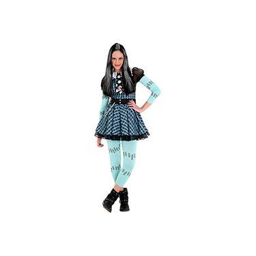 Imagem de Fantasia Monster High Frankie - Xadrez - Tam GG - Sulamericana
