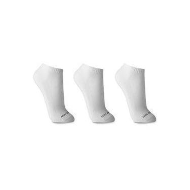 Imagem de Kit 3 Pares Meia Branca Cano Curto Algodão Walk Ted Socks 1500