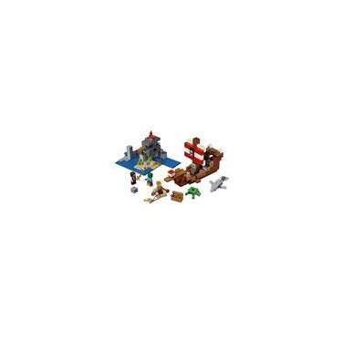 Brinquedo Lego Minecraft - Aventura Do Barco Pirata  386 Peças