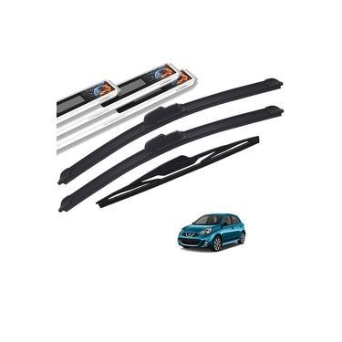 Palheta Limpador Parabrisa Nissan March 2011 a 2018 Dianteiro e Traseiro Original AutoImpact
