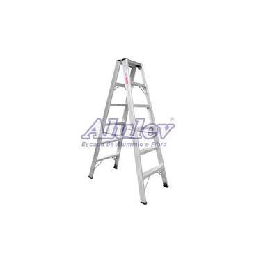 Escada De Pintor Alumínio Ap110 Alulev Profissional 3,00 m 10 Degraus