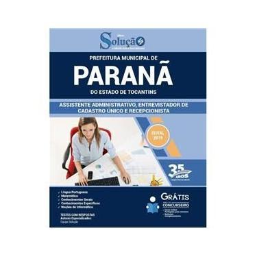 Imagem de Apostila Prefeitura Paranã To 2019 Assistente Administrativo