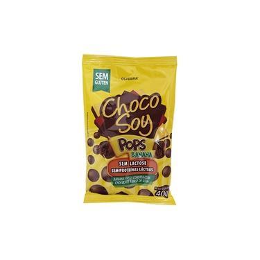 Choco Soy Pops Banana Olvebra Sem Lactose 40g