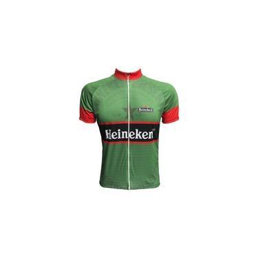 Camisa Ciclismo Mountain Bike Masculina Zíper Total Verde