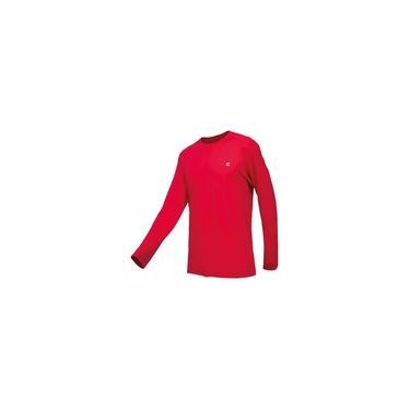 Imagem de Camisa Masculina Curtlo Active Fresh Manga Longa Vermelho