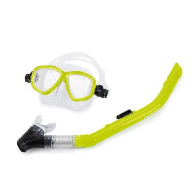 Kit máscara e snorkel ocean mormaii Verde TU