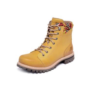 Bota Braddock Belle W Couro Amarelo  feminino