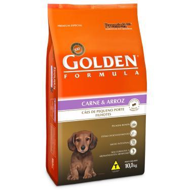 Ração Cachorro Filhote Raças Pequenas Golden Fórmula Carne E Arroz 10,1Kg