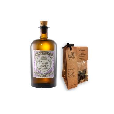 Kit Gin Monkey 47 500ml + Especiarias para Gin e Tônica Begin